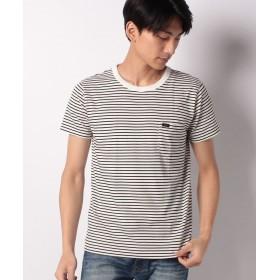 スペンディーズストア LEEポケット付きワンポイントボーダーTシャツ メンズ ホワイト系 L 【SPENDY'S Store】
