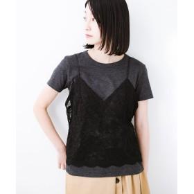 ハコ Tシャツを女っぽく着こなせるオトナセットbyMAKORI レディース チャコールグレー M 【haco!】