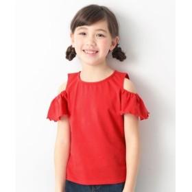 [マルイ]【セール】子供服 半袖Tシャツ キッズ 韓国子供服 オフショル&フリル袖Tシャツ 女の子 トップス/デビロック(devirock)