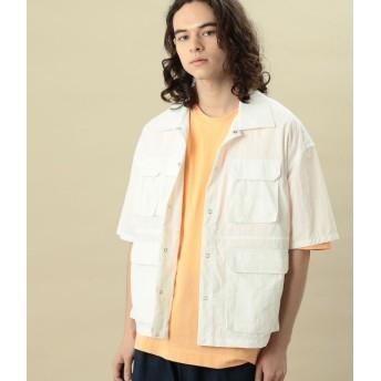 ジュンレッド/【ビッグシルエット】ダブルフラップポケットシャツ/ホワイト/M