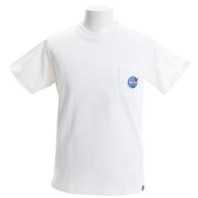 B ONE SOUL NASA×B ONE SOUL ポケット刺繍 半袖Tシャツ3 9570906-WHT (Men's)