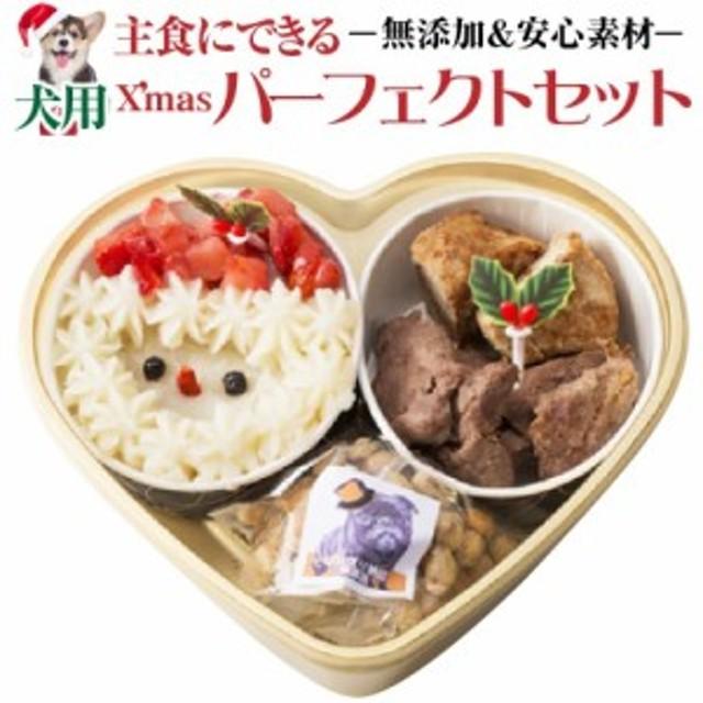 【順次配送】犬 クリスマスケーキ(犬用クリスマスケーキ)パーフェクトセット
