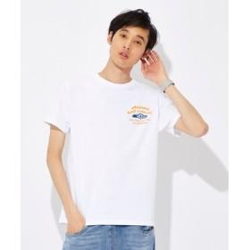 AVIREX ピンナップガールプリントTシャツ メンズ ホワイト