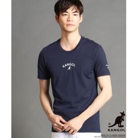 ニコルクラブフォーメン KANGOLコラボラバープリントTシャツ メンズ 67ネイビー 44(S) 【NICOLE CLUB FOR MEN】