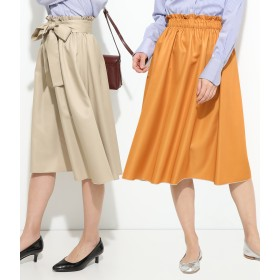 ロングスカート - ViS リバーシブルギャザースカート