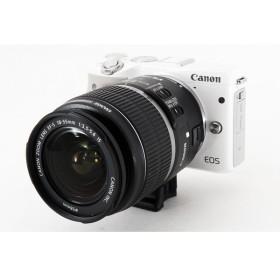キヤノン Canon EOS M3 ホワイト レンズキット 軽量・コンパクト マウントアダプター、ストラップ付き