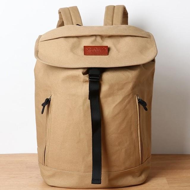 f78e9002b3a7 ユニセックス ハリ加工キャンバス バックパック / unisex canvas back-pack beige