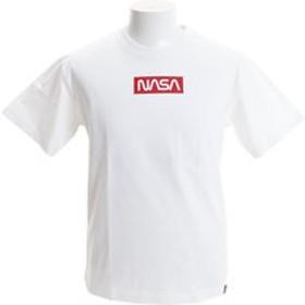 【Super Sports XEBIO & mall店:トップス】NASA×B ONE SOUL ボックスワーム ロゴプリント 半袖Tシャツ2 9570905-WHT