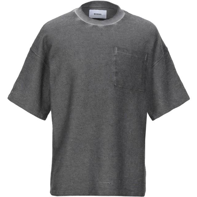 《期間限定セール開催中!》BONSAI メンズ スウェットシャツ グレー L コットン 90% / ポリエステル 10%
