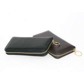 長財布 - petitcaprice 牛革 長財布 財布 小銭入れ メンズ 紳士 メタルジップ 革 シュリンクメタルジップ財布 (mk-W-313m) 財布 かっこいいシンプル プレゼント 内側に型押しのロゴ入り♪