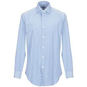 《期間限定 セール開催中》CASTANGIA メンズ シャツ アジュールブルー 41 コットン 100%