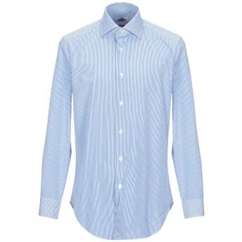 《期間限定セール開催中!》CASTANGIA メンズ シャツ アジュールブルー 41 コットン 100%