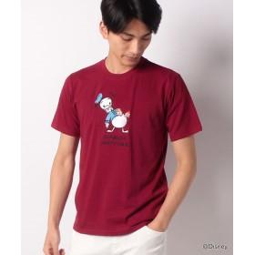 マルカワ ディズニー 刺繍 半袖Tシャツ メンズ 柄4 M 【MARUKAWA】