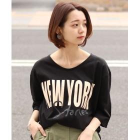 REAL STYLE リアルスタイル NEWYORKプリントTシャツ レディース