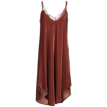 《セール開催中》SOUVENIR レディース ミニワンピース&ドレス ブラウン S ポリエステル 100%