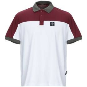 《セール開催中》THREE STROKE メンズ ポロシャツ ホワイト S コットン 100%