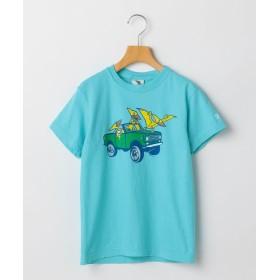 【50%OFF】 シップス キッズ GRAVITY:恐竜×乗り物 プリント TEE(100~140cm) レディース ブルー X-SMALL 【SHIPS KIDS】 【セール開催中】