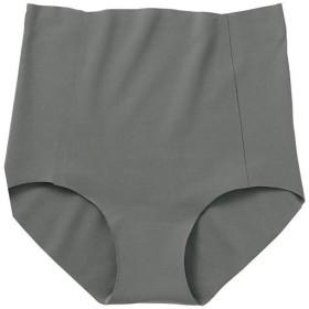 【レディース】 無縫製の切りっぱなし綿混ショーツ(100%シームレス・日本製) ■カラー:シャドーグレー ■サイズ:S,LL,L,M