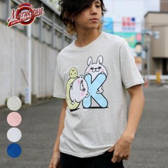 Tシャツ - MARUKAWA ヨッシースタンプ Tシャツ メンズ 夏 キャラクター プリント 半袖 ホワイト/グレー/ピンク/ブルー M/L/LL【 ティーシャツヨッシー LINE スタンプ うさぎさん くまさん おもしろ かわいい】