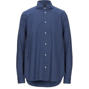 《9/20まで! 限定セール開催中》MANUEL RITZ メンズ シャツ ブルー 38 コットン 97% / ポリウレタン 3%