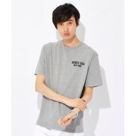 AVIREX 【ライトオン別注】USAモチーフプリントTシャツ メンズ グレー