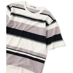 シップス SU: 梨地 ボーダー Tシャツ 19SS メンズ コバルトブルー SMALL 【SHIPS】