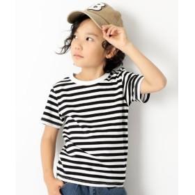 [マルイ]【セール】子供服 半袖Tシャツ キッズ 韓国子供服 ボーダーTシャツ 男の子 女の子 トップス/デビロック(devirock)