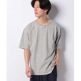 ワンデイケイエムシー DETAILS / PVCガゼットカットソー メンズ グレー F 【ONEDAY KMC】