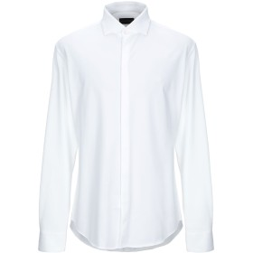 《セール開催中》EMPORIO ARMANI メンズ シャツ ホワイト 43 ポリエステル 51% / コットン 49%