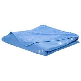 冷感ケット(スター柄・リバーシブルタイプ) - セシール ■カラー:ブルー ■サイズ:シングル(140×200cm)