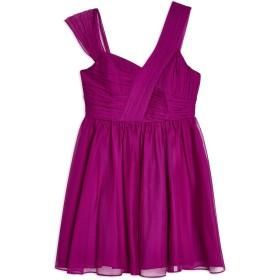 《期間限定セール開催中!》TOPSHOP レディース ミニワンピース&ドレス モーブ 10 ポリエステル 100% RUCHED PURPLE MINI DRESS