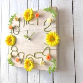 キュートなお花の掛け時計004