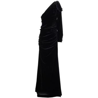 《期間限定セール開催中!》ELISABETTA FRANCHI レディース ロングワンピース&ドレス ブラック 42 レーヨン 82% / シルク 18%