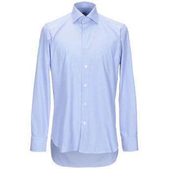 《9/20まで! 限定セール開催中》CASTANGIA メンズ シャツ アジュールブルー 38 コットン 100%