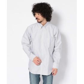 ビーセカンド CREW OX BDシャツ/オックスフォードボタンダウンシャツ メンズ GREY S 【B'2nd】