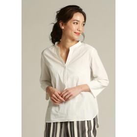 la.f. 《SET UPアイテム》サラコナガスボイルシャツブラウス シャツ・ブラウス,ホワイト
