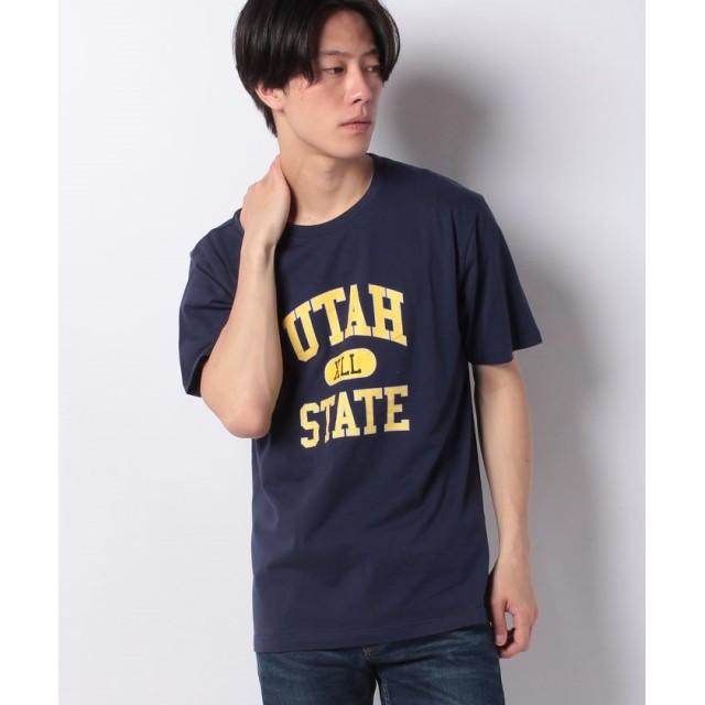 【61%OFF】 ウィゴー WEGO/カレッジプリントTシャツ ユニセックス ネイビー S 【WEGO】 【タイムセール開催中】