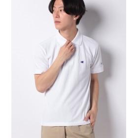 マルカワ チャンピオン カノコ ワンポイント ポロシャツ メンズ ホワイト M 【MARUKAWA】