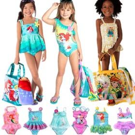 2枚送料無料!子供水着 キッズ水着 ディズニー アナと雪の女王 アナ エルサ 人魚姫 Elsa マーメイド 女の子 水着 子ども水着 水着 ジュニア水着 水泳 プリンセス ワンピース型水着 ビキニ