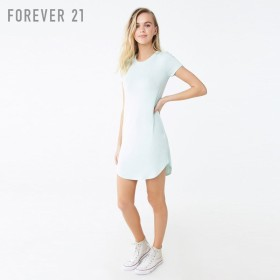 FOREVER21 フォーエバー21 【ボーダーTシャツワンピース】(5,000円以上購入で送料無料)