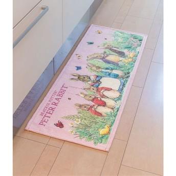 ピーターラビット シェニールキッチンマット - セシール ■カラー:ピンク ■サイズ:C(45×240),B(45×180)