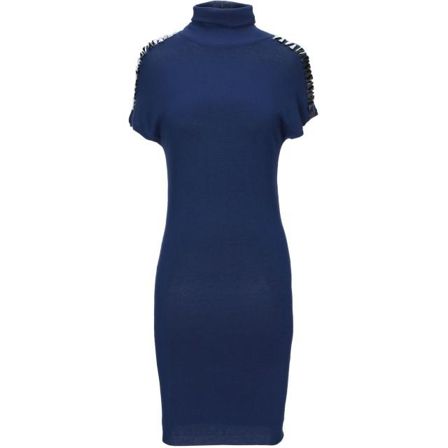 《期間限定セール開催中!》VERSACE JEANS レディース ミニワンピース&ドレス ブルー XS レーヨン 80% / ナイロン 20%