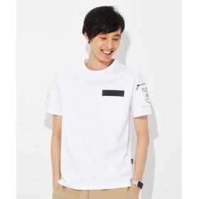 AVIREX ファティーグクルーネックTシャツ メンズ ホワイト