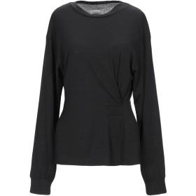 《9/20まで! 限定セール開催中》,MERCI レディース T シャツ ブラック XS アセテート 76% / ウール 19% / ポリウレタン 5%