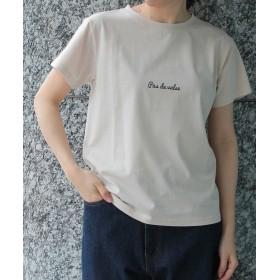 ロペピクニック ロゴプリントTシャツ レディース ベージュ(27) 40 【ROPE' PICNIC】