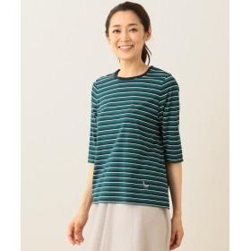【オンワード】 JANE MORE(ジェーン モア) 【洗える!】バスクボーダー Tシャツ(6分袖) ネイビー L レディース 【送料無料】