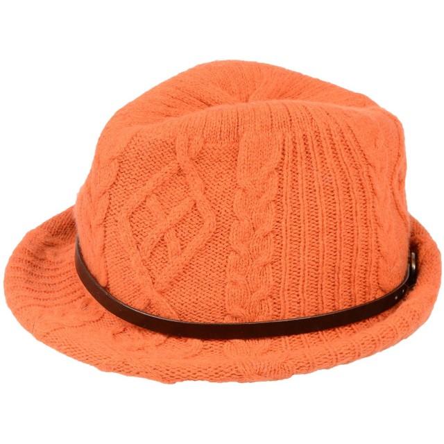 《期間限定セール開催中!》INVERNI レディース 帽子 オレンジ 57 ウール 92% / カシミヤ 8%