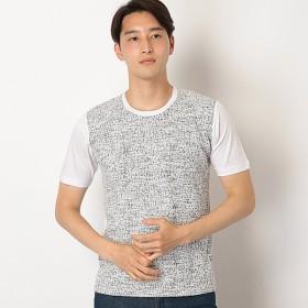[マルイ]【セール】コットンツイードコンビTシャツ/メンズメルローズ(MEN'S MELROSE)