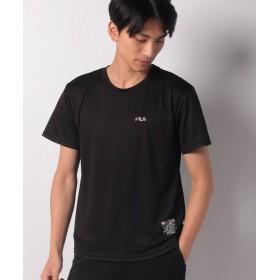 【22%OFF】 マルカワ フィラ ドライ ワンポイント刺繍 半袖Tシャツ メンズ ブラック M 【MARUKAWA】 【タイムセール開催中】