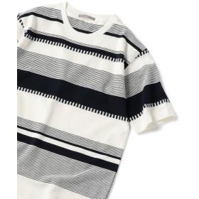 シップス SU: 梨地 ボーダー Tシャツ 19SS メンズ ネイビー X-LARGE 【SHIPS】